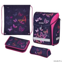 Ранец Herlitz MIDI NEW PLUS Rainbow Butterfly с наполнением