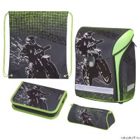 Ранец Herlitz MIDI NEW PLUS Motorcross с наполнением