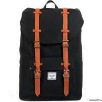 Рюкзак HERSCHEL LITTLE AMERICA MID-VOLUME Black/Tan