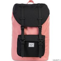 Рюкзак HERSCHEL LITTLE AMERICA MID-VOLUME Strawberry Ice Grid