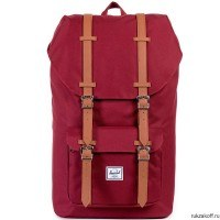 Рюкзак HERSCHEL LITTLE AMERICA WINDSOR WINE/TAN SYNTHETIC LEATHER