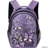 Рюкзак Grizzly A lot of butterflies Lavender Rg-657-3