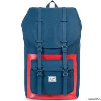 Рюкзак HERSCHEL LITTLE AMERICA NAVY/RED BLOCK PRINT