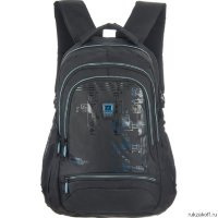 Рюкзак Grizzly Outline Black-blue RU-722-2