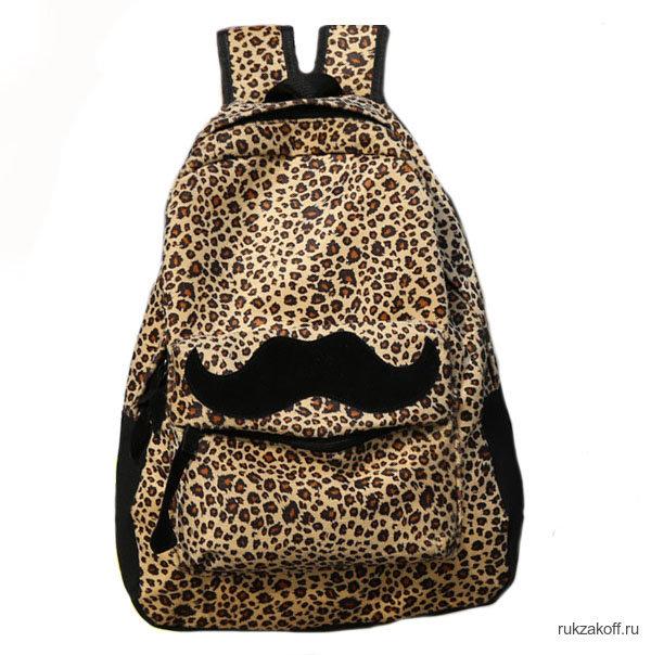 Леопардовый рюкзак с усами