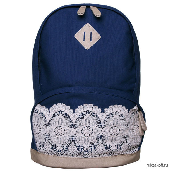 Рюкзак с кружевами Laces Tight синий